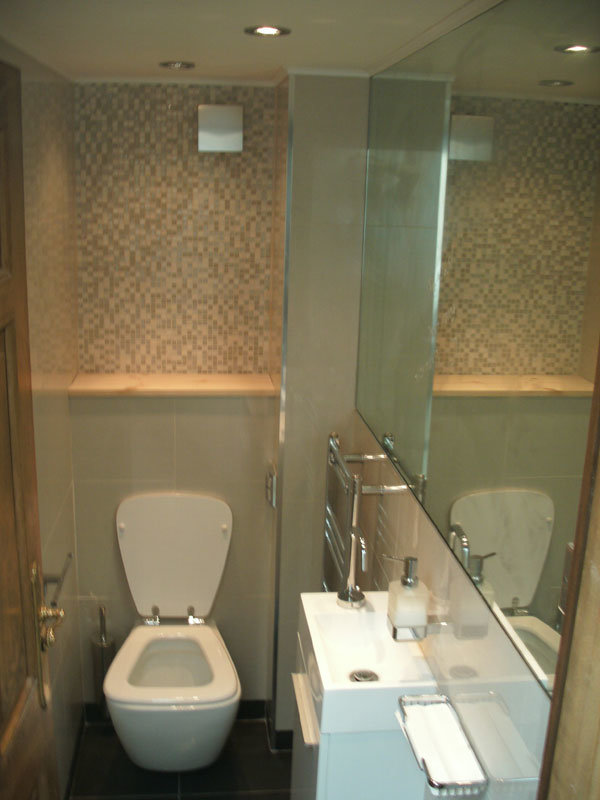 Two Small Toilets In London Bridge Bathroom Fitters